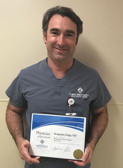 Providence Memorial Hospital Physician of the Month