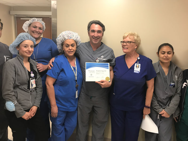 Providence Memorial Hospital Physician of the Month, Team Photo